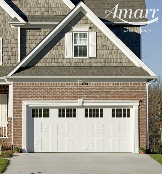 Armarr - Lucern style garage door on a quaint residential home